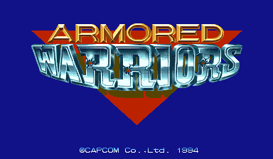 Armored Warriors title screenshot