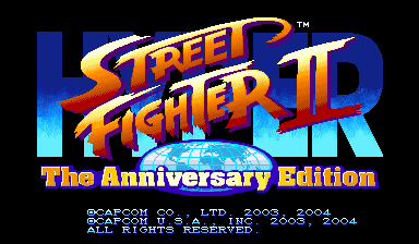 Hyper Street Fighter 2 : The Anniversary Edition title screenshot
