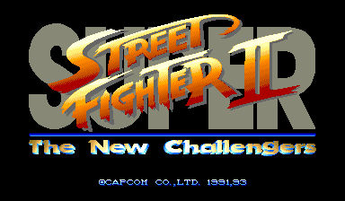 Super Street Fighter II : The New Challengers title screenshot