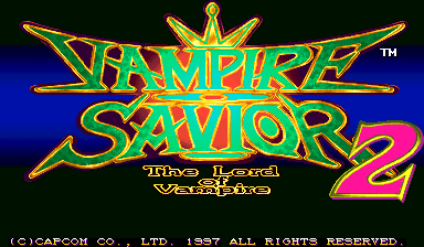Vampire Savior 2 : The Lord of Vampire title screenshot