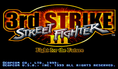 Street Fighter III 3rd Strike : Fight for the Future title screenshot