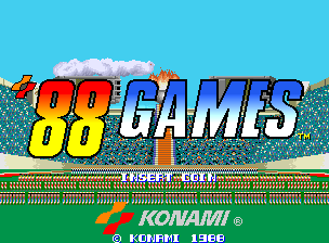 Konami '88 Games title screenshot