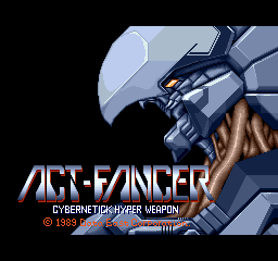 Act-Fancer Cybernetick Hyper Weapon title screenshot