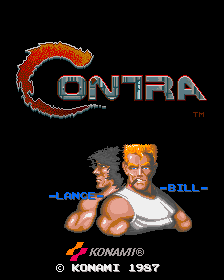 Contra title screenshot