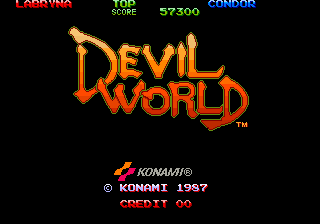 Devil World title screenshot