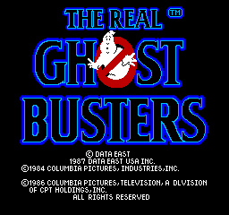Real Ghostbusters, The title screenshot
