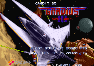 Gradius III title screenshot