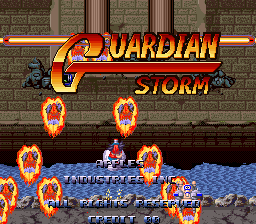 Guardian Storm title screenshot