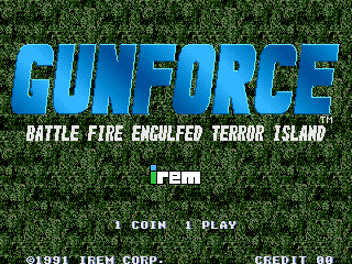 Gunforce : Battle Fire Engulfed Terror Island title screenshot