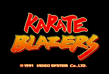 Karate Blazers title screenshot