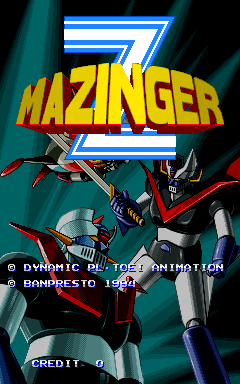 Mazinger Z title screenshot