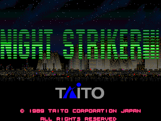 Night Striker title screenshot