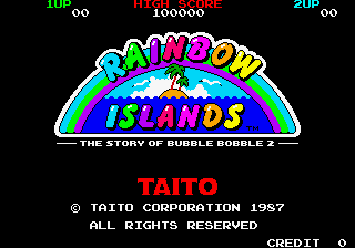 Rainbow Islands title screenshot