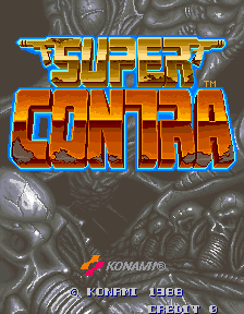 Super Contra title screenshot