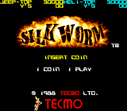 Silk Worm title screenshot