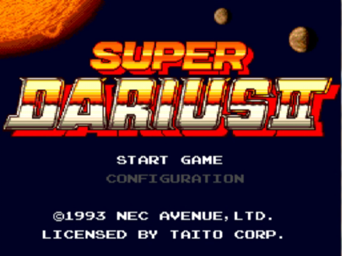 Super Darius 2 title screenshot