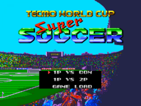 Tecmo World Cup Super Soccer title screenshot