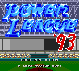 Power League '93 title screenshot