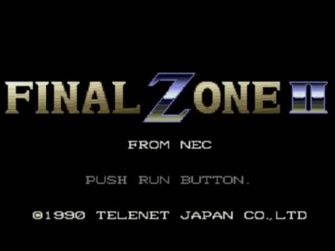 Final Zone II title screenshot