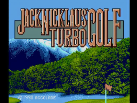 Jack Nicklaus Turbo Golf title screenshot