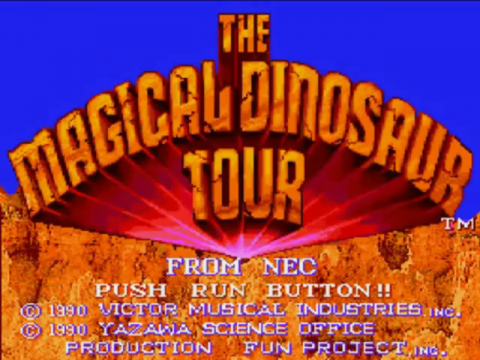 Magical Dinosaur Tour title screenshot
