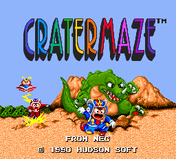 Cratermaze title screenshot