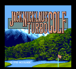 Jack Nicklaus' Turbo Golf title screenshot