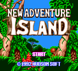 New Adventure Island title screenshot