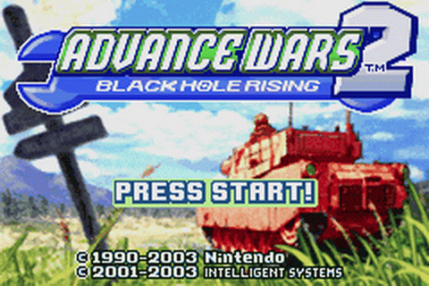 Advance Wars 2 - Black Hole Rising title screenshot
