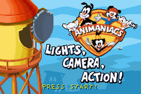 Animaniacs - Lights, Camera, Action! title screenshot