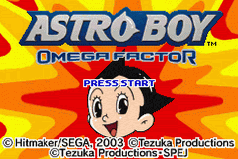 Astro Boy - Omega Factor title screenshot