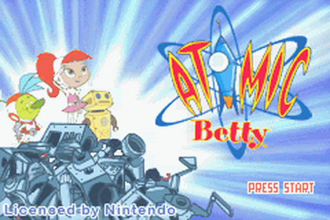 Atomic Betty title screenshot