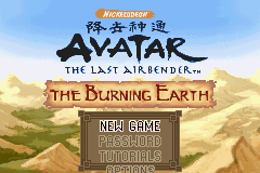 Avatar - The Last Airbender - The Burning Earth title screenshot