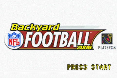 Backyard Football 2006 title screenshot