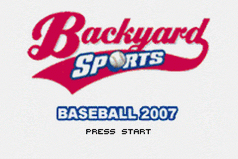 Backyard Sports - Baseball 2007 title screenshot