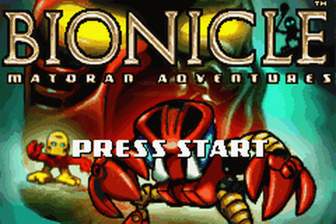 Bionicle - Matoran Adventures title screenshot