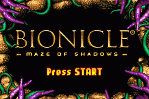 Bionicle - Maze of Shadows title screenshot