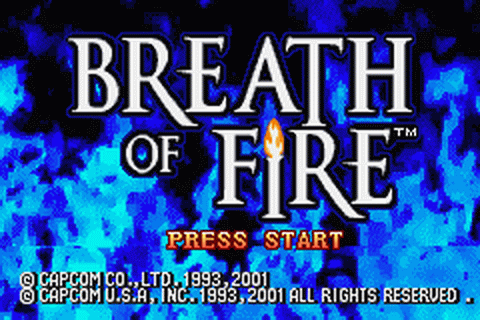 Breath of Fire title screenshot
