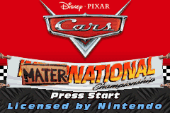Cars - Mater-National Championship title screenshot
