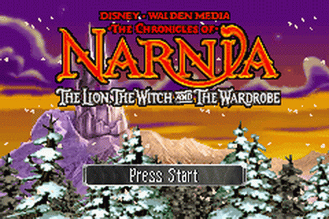 Chronicles of Narnia, The - The Lion, the Witch and the Wardrobe title screenshot