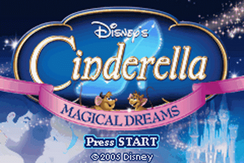 Cinderella - Magical Dreams title screenshot