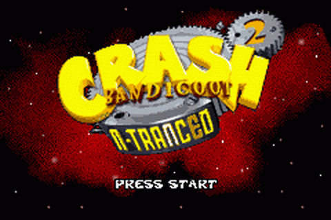 Crash Bandicoot 2 - N-Tranced title screenshot