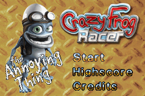 Crazy Frog Racer title screenshot