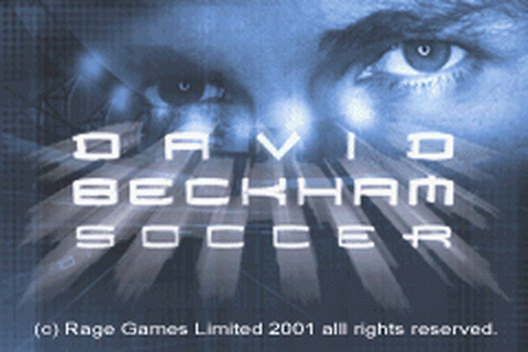 David Beckham Soccer title screenshot