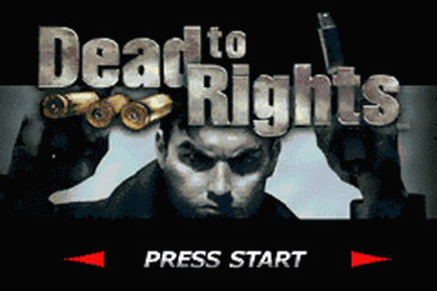Dead to Rights title screenshot
