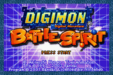 Digimon - Battle Spirit title screenshot