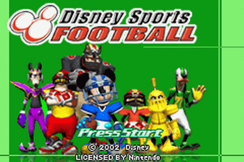 Disney Sports - Football title screenshot