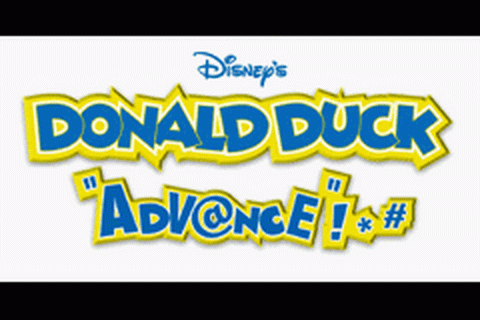 Donald Duck Advance title screenshot