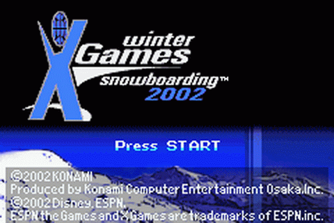 ESPN Winter X-Games Snowboarding 2002 title screenshot