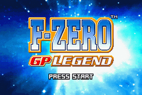 F-Zero - GP Legend title screenshot